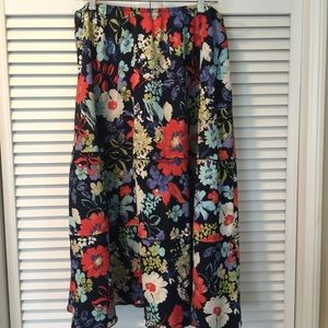 Alfred Dunner A-line tiered floral skirt